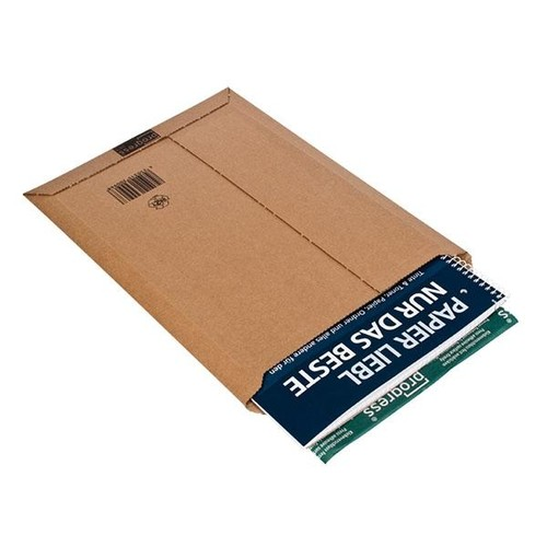 Wellpappe Versandtasche DVD braun / IM: 150 x 250 x -50mm AM: 167 x 268 x -52mm Produktbild Additional View 1 L