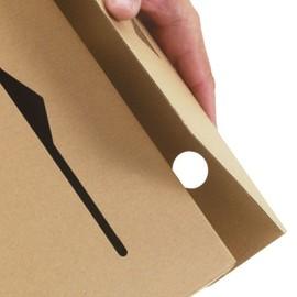 Wellpappe Ablagebox 65 braun DIN A4+ IM: 315 x 65 x 233mm AM: 320 x 67 x 242mm / 117g/m² Produktbild