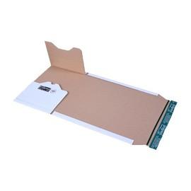 Wellpappe Universal-Versandverpackung A4 weiß / IM: 300 x 220 x -80mm AM: 353 x 222 x -92mm / 150g/m² Produktbild