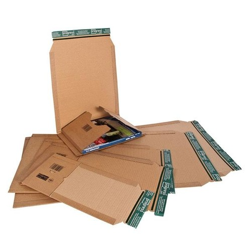 Wellpappe Universal-Versandverpackung CD braun / IM: 147 x 129 x -55mm AM: 198 x 135 x -63mm Produktbild Additional View 3 L