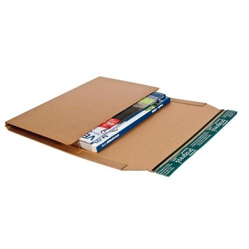 Wellpappe Universal-Versandverpackung B5 braun / IM: 274 x 191 x -80mm AM: 326 x 193 x -92mm Produktbild Additional View 2 L