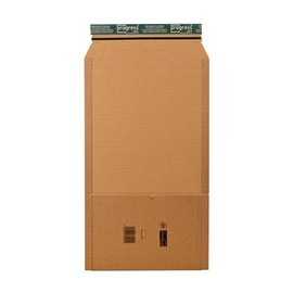 Wellpappe Universal-Versandverpackung A4 braun / IM: 300 x 220 x -80mm AM: 353 x 222 x -92mm Produktbild