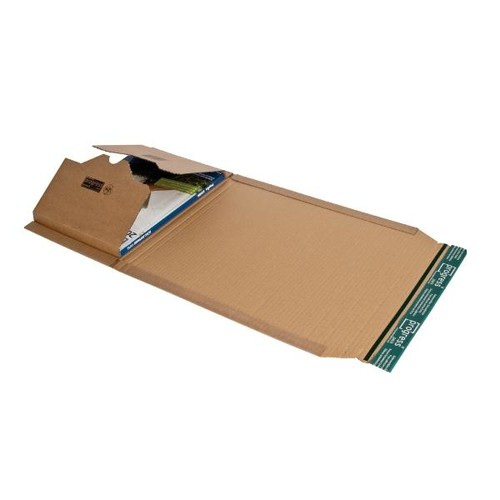Wellpappe Universal-Versandverpackung C4 braun / IM: 328 x 255 x -80mm AM: 380 x 260 x -92mm Produktbild Additional View 1 L