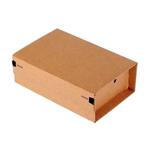 Wellpappe Postversandkarton braun DIN A5+ / IM: 230 x 166 x 90mm AM: 280 x 183 x 100mm Produktbild