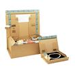 Wellpappe Postversandkarton braun DIN A5+ / IM: 230 x 166 x 90mm AM: 280 x 183 x 100mm Produktbild Additional View 2 S