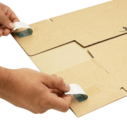 Wellpappe Postversandkarton braun DIN A5+ / IM: 230 x 166 x 90mm AM: 280 x 183 x 100mm Produktbild Additional View 4 L