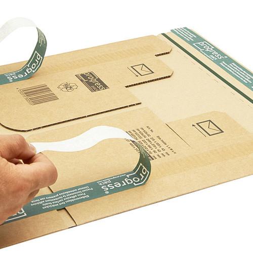 Wellpappe Postversandkarton braun DIN A5+ / IM: 230 x 166 x 90mm AM: 280 x 183 x 100mm Produktbild Additional View 5 L