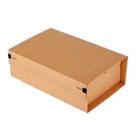 Wellpappe Postversandkarton braun DIN A4 / IM: 305 x 212 x 110mm AM: 355 x 230 x 116mm Produktbild