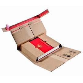 Wellpappe Universal-Versandverpackung braun / IM: 360 x 265 x 1-92mm AM: 411x277x1-02mm /mit Sicherungslasche Produktbild
