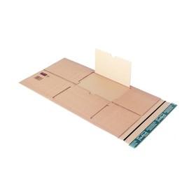 Wellpappe Universal-Versandverpackung braun / IM: 305 x 230 x -92mm AM: 355 x 243 x -107mm Produktbild