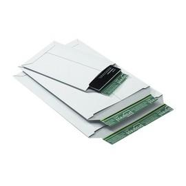 Vollpappe Versandtasche B5+ weiß / IM: 205 x 262 x -30mm AM: 269 x 214 x -32mm Produktbild