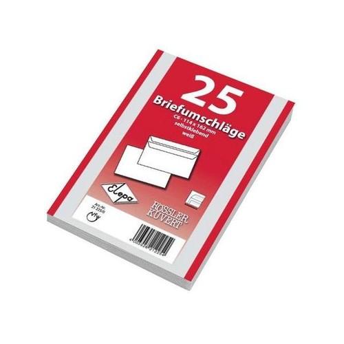 Briefumschlag ohne Fenster C6 114x162mm selbstklebend 72g weiß (PACK=25 STÜCK) Produktbild Additional View 3 L