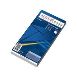 Briefumschlag ohne Fenster DIN lang 110x220mm selbstklebend 72g weiß (PACK=25 STÜCK) Produktbild