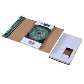 Wellpappe CD/DVD Mailer DL weiß Jewel Case / 225 x 125 x 12mm mit Fenster Produktbild