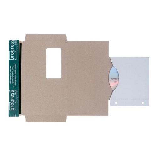 Vollpappe CD/DVD/Diskette Mailer DL weiß mit Archivtasche / 221 x 122mm mit Fenster Produktbild