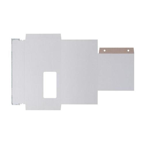 Vollpappe CD/DVD/Diskette Mailer DL weiß mit Archivtasche / 221 x 122mm mit Fenster Produktbild Additional View 1 L