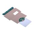 Vollpappe CD/DVD/Diskette Mailer DL weiß mit Archivtasche / 221 x 122mm mit Fenster Produktbild Additional View 2 S