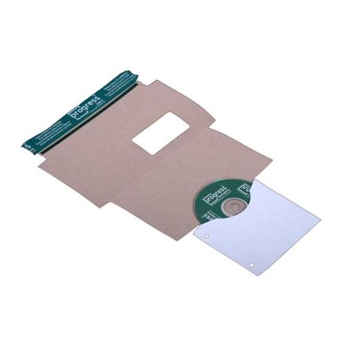 Vollpappe CD/DVD/Diskette Mailer DL weiß mit Archivtasche / 221 x 122mm mit Fenster Produktbild Additional View 2 L