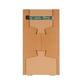 Wellpappe Trapez Versandverpackung braun A2 / IM: 430 x 145/108 x 75mm AM: 440 x 158/115 x 82mm Produktbild