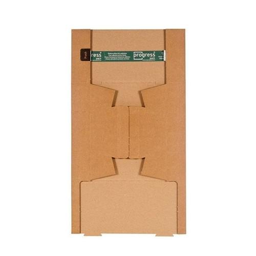 Wellpappe Trapez Versandverpackung braun A0 / IM: 860 x 145/108 x 75mm AM: 870 x 158/115 x 82mm Produktbild