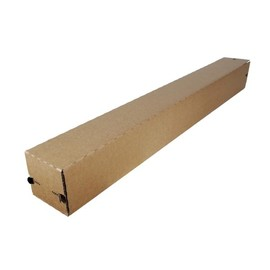 Wellpappe longBOX Teleskop braun A0 / IM: 860 x 111 x 111mm AM: 950 x 116 x 116mm Produktbild