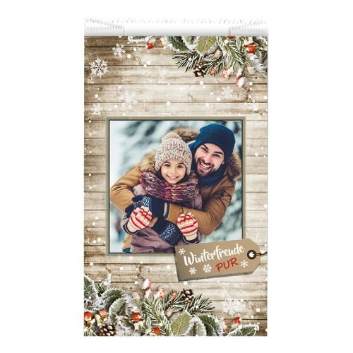 Faltenbeutel Winterfreude Pur 17x5x28cm 40g weiß Trendstar (PACK=1000 STÜCK) Produktbild Front View L