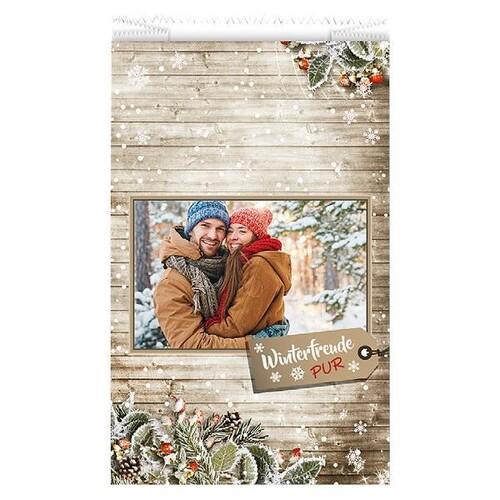 Faltenbeutel Winterfreude Pur 20x7x32cm 40g weiß Trendstar (PACK=1000 STÜCK) Produktbild Front View L