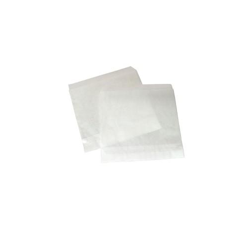 Imbissbeutel Kraftpapier 2 Seiten offen 16x16cm weiß (PACK=2000 STÜCK) Produktbild Additional View 2 L