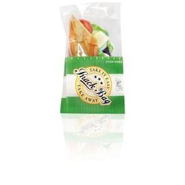 Snack Bag mit PET Folie fettdicht groß 12,5x21,5cm 40g Neutraldruck grün (PACK=1000 STÜCK) Produktbild