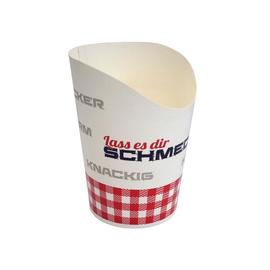 Wrap Becher Lass es dir schmecken Ø5,6cm / 10cm / 200ml / weiß (KTN=1500 STÜCK) Produktbild
