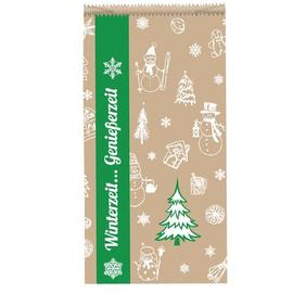 Faltenbeutel Winterzeit Tannenbaum 16x6x28cm / 35g / braun gefädelt (PACK=1000 STÜCK) Produktbild