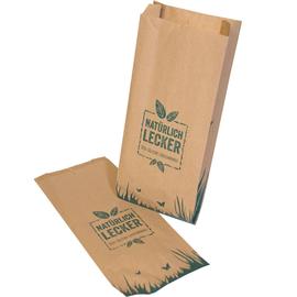 Faltenbeutel natürlich lecker braun Recyclingpapier 35g 14x8x32cm (PACK=1000 STÜCK) Produktbild