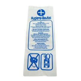 Hygienebeutel Papier Neutraldruck 120x50x280mm / 35g / weiß (PACK=1000 STÜCK) Produktbild