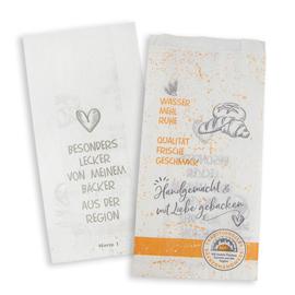 Faltenbeutel Bäckerhandwerk Norm 1 12x5x23cm weiß 35g (PACK=1000 STÜCK) Produktbild