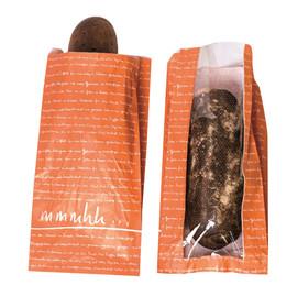 Sichtstreifenfaltenbeutel mmmhh 20x8x42cm orange (KTN=1000 STÜCK) Produktbild