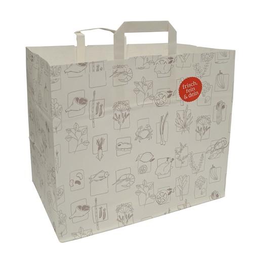 Take Away Tasche XL 36x23x30,5cm weiß (KTN=200 STÜCK) Produktbild Front View L