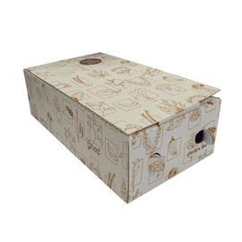 Pizzakarton Neutraldruck 32,5x18x10cm für Calzone weiß (PACK=100 STÜCK) Produktbild