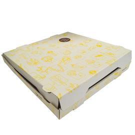 Pizzakarton Neutraldruck Greet 34,5x34,5x4 cm weiß (PACK=100 STÜCK) Produktbild