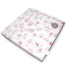 Pizzakarton Neutraldruck Greet 32x32x4cm braun (PACK=100 STÜCK) Produktbild