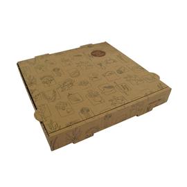 Pizzakarton Neutraldruck Greet 26x26x4cm braun (PACK=100 STÜCK) Produktbild