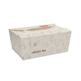Mealbox Nr. 4 mit Deckel 2215ml 215x162x90mm weiß (KTN=100 STÜCK) Produktbild
