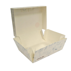 Mealbox zum Falten XXL Greet 200x150x85mm weiß (KTN=200 STÜCK) Produktbild