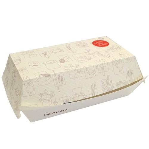 Mealbox 1 mit Clamshell Deckel Greet 175x88x75mm rechteckig weiß (KTN=400 STÜCK) Produktbild