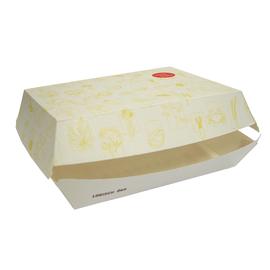 Mealbox 4 mit Clamshell Deckel XXL Greet 200x150x75mm / weiß (KTN=250 STÜCK) Produktbild
