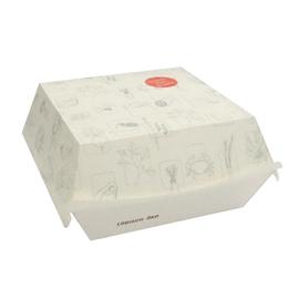 Burgerbox 2 mit Clamshell-Deckel M Greet 120x120x75mm / weiß (KTN=450 STÜCK) Produktbild