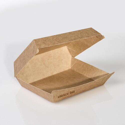 Mealbox 4 mit Clamshell Deckel XXL Greet 200x150x75mm / braun (KTN=250 STÜCK) Produktbild Front View L