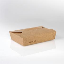 Mealbox mit Deckel Greet Leo 2 1370ml / 215x160x50mm / braun (KTN=200 STÜCK) Produktbild