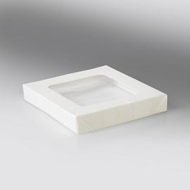 Deckel mit PLA Fenster für Snackbox Umami 1370+2370ml / 178x178x25mm / weiß (KTN=200 STÜCK) Produktbild