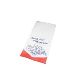 Faltenbeutel Immer Frisch aus Meisterhand 12x5x23cm weiß 35g (PACK=1000 STÜCK) Produktbild
