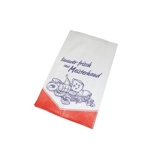 Faltenbeutel Immer Frisch aus Meisterhand 17x5x28cm weiß 40g (PACK=1000 STÜCK) Produktbild